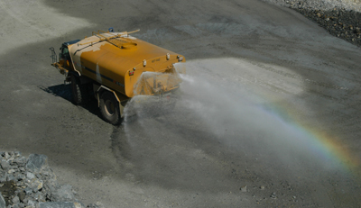 Photo of a Mitsubishi Cement Corporation Water Truck